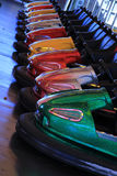 Dodgem cars in a row Stock Image