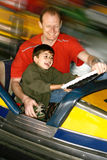 Dodgem with daddy royalty free stock image