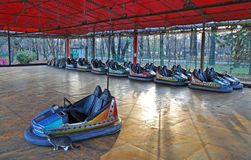 Dodgem entertainment cars Stock Photo