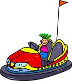 Dodgem kid Royalty Free Stock Photos