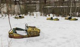 Dodgems in Chernobyl Pripyat Stock Photography
