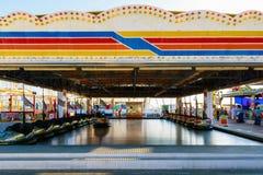 Dodgems am Funfair auf Brighton Pier lizenzfreies stockbild