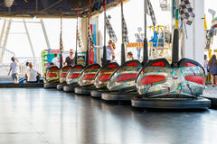 Dodgems at The Funfair on Brighton Pier Royalty Free Stock Photos