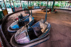 Dodgems hors d'usage Image stock
