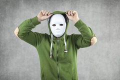 Dodger in the mask implies the hood. Portrait Stock Image