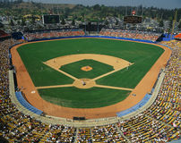Dodger Stadium. This is Dodger Stadium. This game was played by the LA Dodgers and the Houston Astros. The attendance at this game was 42, 264. The Dodgers won Stock Image