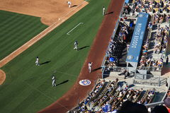 Dodger Stadium Dugout - Los Angeles Dodgers Stock Photos