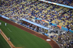 Dodger Stadium Dugout - Los Angeles Dodgers Royalty Free Stock Photography