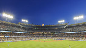Dodger Stadium and L.A. Towndown Royalty Free Stock Photos