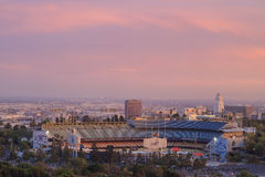 Dodger Stadium and L.A. Towndown Stock Photography
