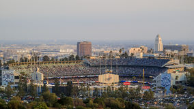 Dodger Stadium and L.A. Towndown Royalty Free Stock Photo
