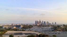 Dodger Stadium and L.A. Towndown Royalty Free Stock Image