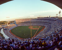 Dodger Stadium, Los Angeles, CA. (Scanned from color slide Stock Images