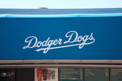 Dodger Stadium - Los Angeles Dodgers. Famous Los Angeles Dodger Dog hot dog concession at the stadium Stock Image