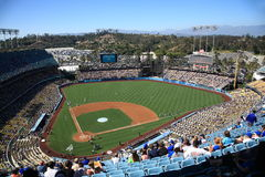 Dodger Stadium - Los Angeles Dodgers. Dodger Stadium on a sunny day in Los Angeles before a Dodgers baseball game Stock Photography