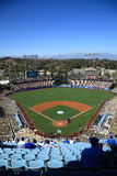 Dodger Stadium - Los Angeles Dodgers. Dodger Stadium on a sunny day in Los Angeles before a baseball game. With copy space Royalty Free Stock Photo