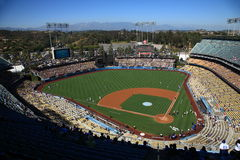 Dodger Stadium - Los Angeles Dodgers. Dodger Stadium on a sunny day in Los Angeles before a baseball game Stock Photo