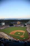 Dodger Stadium - Los Angeles Dodgers. Dodger Stadium at dusk for a baseball game in Los Angeles. With copy space Stock Photos