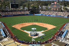 Dodger Stadium - Los Angeles Dodgers. Dodger Stadium on a sunny day in Los Angeles before a baseball game Stock Images