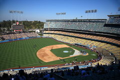 Dodger Stadium - Los Angeles Dodgers. Dodger Stadium on a sunny day in Los Angeles before a baseball game Royalty Free Stock Photography