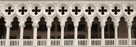 Dodges Palace arches, Venice, Italy Royalty Free Stock Images