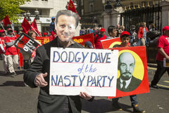 Dodgy Dave at May Day Rally Royalty Free Stock Photo