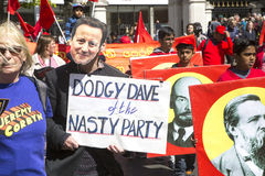 Dodgy Dave at May Day Rally Royalty Free Stock Photos