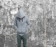 Dodgy guy. A dodgy guy with hoodie Stock Photography