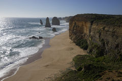 Dodici apostoli - grande strada dell'oceano Fotografie Stock