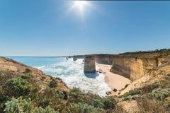 Dodici apostoli, punto di riferimento famoso lungo la grande strada dell'oceano, Aus Fotografie Stock