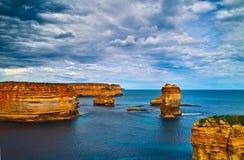 Dodici apostoli sulla grande strada dell'oceano Fotografie Stock Libere da Diritti