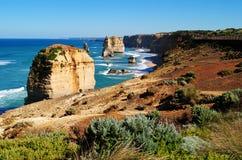 Dodici apostoli sulla grande strada dell'oceano Immagini Stock