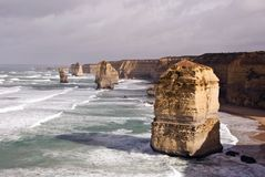Dodici Apostols, grande strada dell'oceano Fotografia Stock
