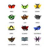 Dodici segni astrologici dello zodiaco Fotografia Stock