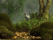 Dodo bianco illustrazione di stock