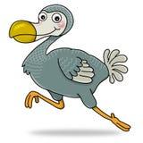 Dodo bird. Cartoon action icon of dodo bird running Royalty Free Stock Photos