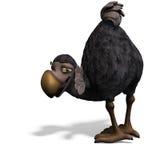 Dodo-pájaro muy divertido de Toon stock de ilustración