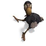 dodo ο αστείος Toon πουλιών πολ Στοκ εικόνα με δικαίωμα ελεύθερης χρήσης