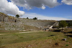 Dodoni amphitheater Stock Images