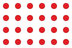 Dodts vermelhos simples no fundo branco Fotos de Stock