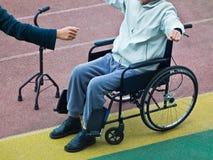 Doe de rehabilitatie van patiënt royalty-vrije stock fotografie