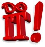 Doe het!!! Stock Afbeelding