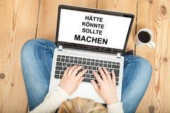 Doe het! (in het Duits) Royalty-vrije Stock Afbeelding