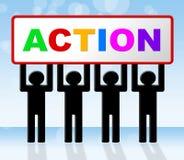 Doe het vertegenwoordigt Akte nu Vertoning en Motivatie royalty-vrije illustratie