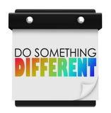 Doe iets de Verschillende Unieke Speciale Verandering van de Woordenkalender van P Stock Foto