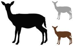 Free Doe Or Deer Silhouette - Hoofed Ruminant Mammal Stock Photography - 132052022