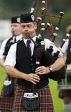 Doedelzakken bij de Spelen van het Hoogland in Schotland Royalty-vrije Stock Foto