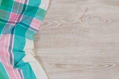 Doekservet op houten achtergrond Royalty-vrije Stock Afbeelding