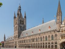 Doekzaal in Ypres België Stock Foto's