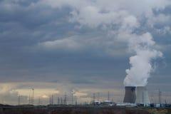 Doel能源厂,比利时 库存图片